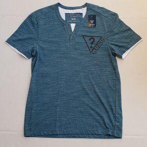 New Men's GUESS Buttoned Slit Neck Shirt sz M